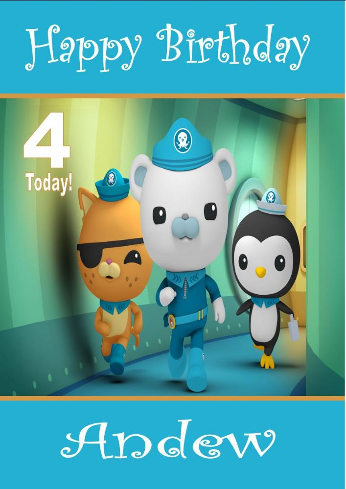 Personalised Octonauts Birthday Card